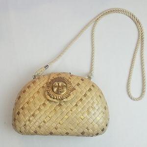 Vintage celestial boho purse clutch